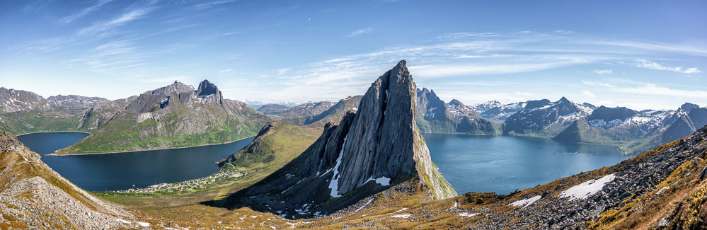 Segla mountain panorama.