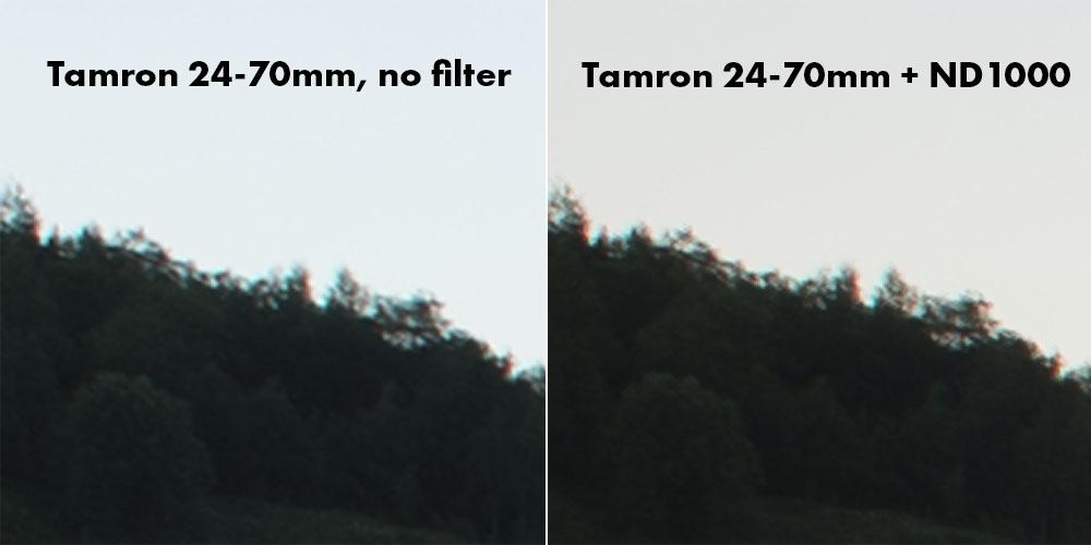 DolDer X-Pro ND 1000 Series Slim chromatic aberration test.