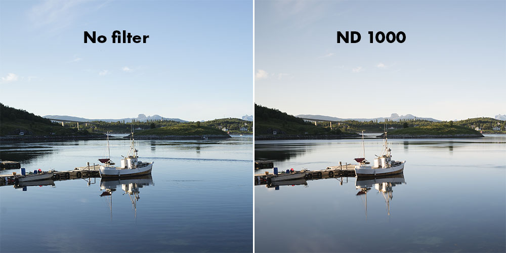 DolDer X-Pro ND 1000 Series Slim color cast comparison.