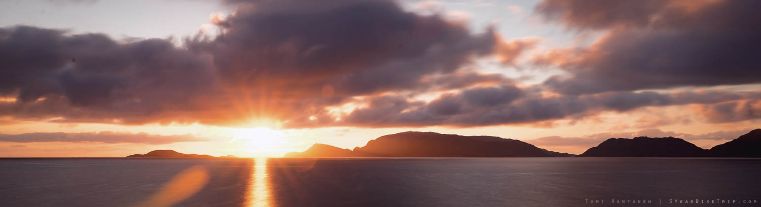 Sunset at the Norwegian Sea.