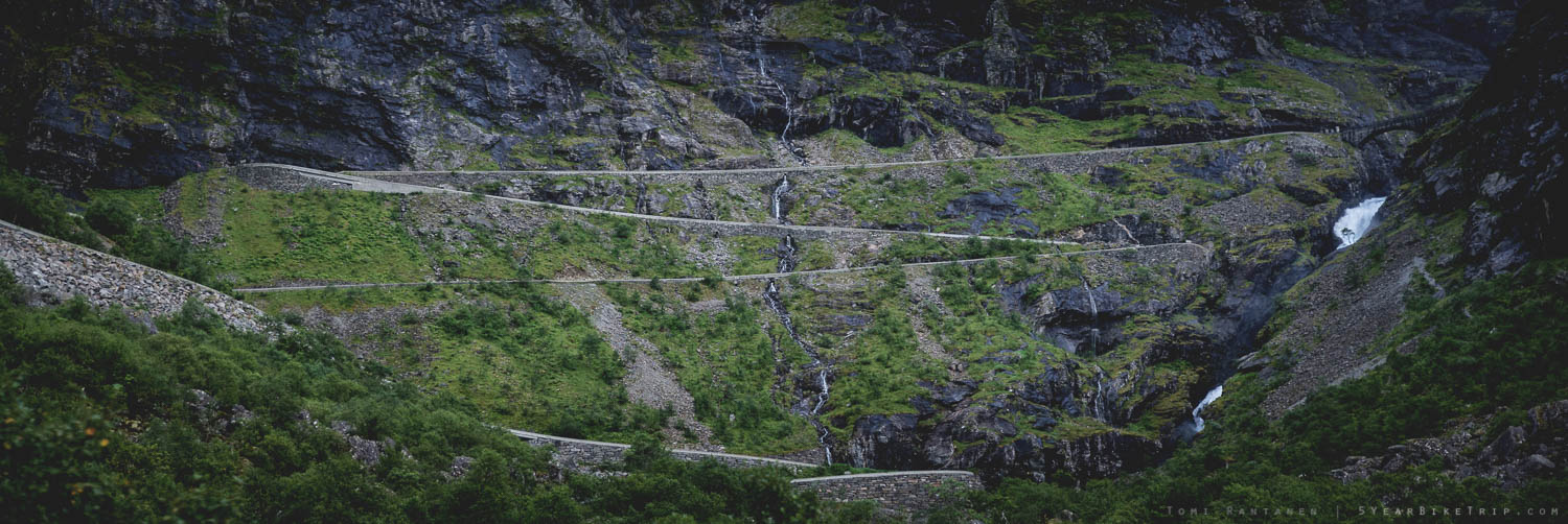 I have to cycle up this road? I've made a huge mistake.