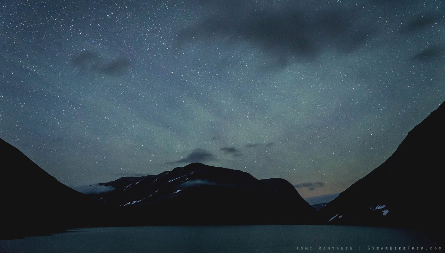 Stars over mountains is a sight I'll never get tired of.