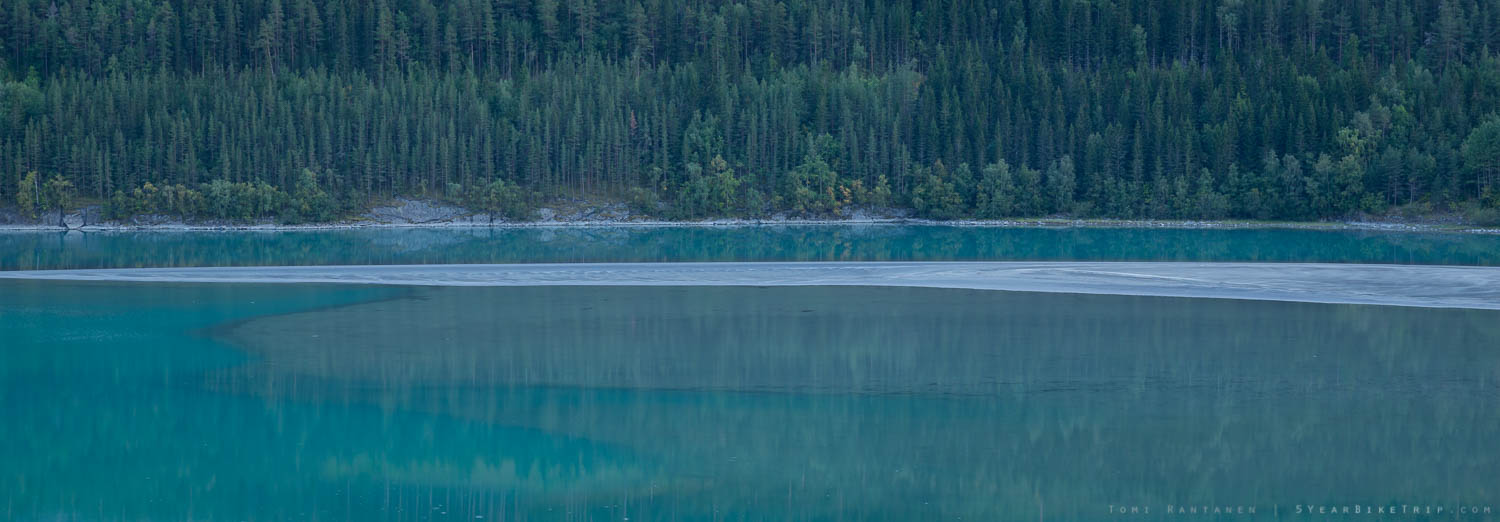 River Otta really was this turquoise.