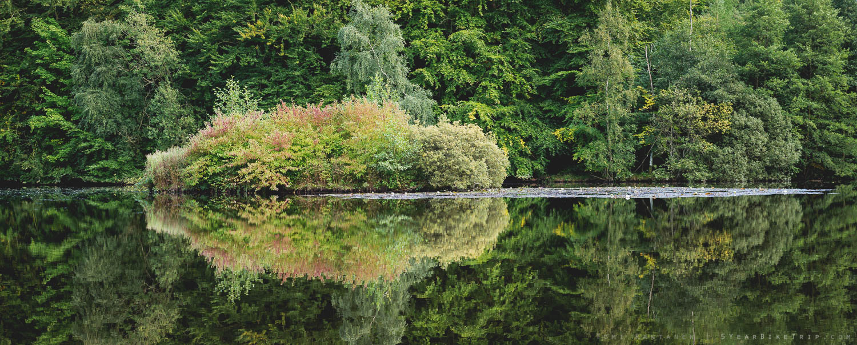 Small island mirrored.