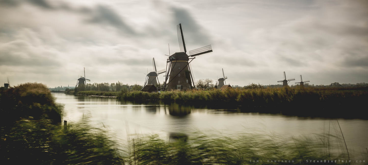 Kinderdijk with the ND1000 filter.