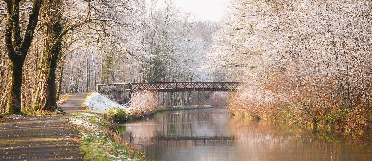 A bridge over cold water.