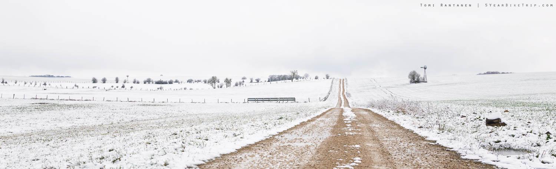 I hope this road will take me somewhere warm.
