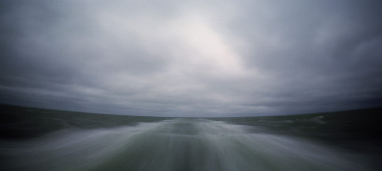 Ocean, receding. Nantucket-Hyannis ferry, MA