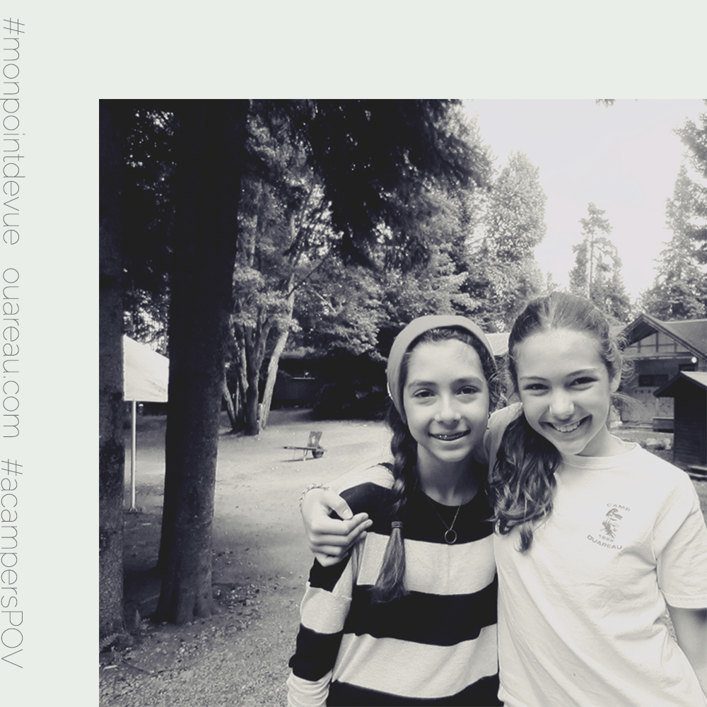 """""""You'll always remember your camp friends, even if they don't come back the next year. There's more judgment in the city. At camp you feel encouraged, supported and trustworthy. My friend Alexandra, even if I don't see her during the year, we email each other all the time.""""  -Océane T., 10 year old"""
