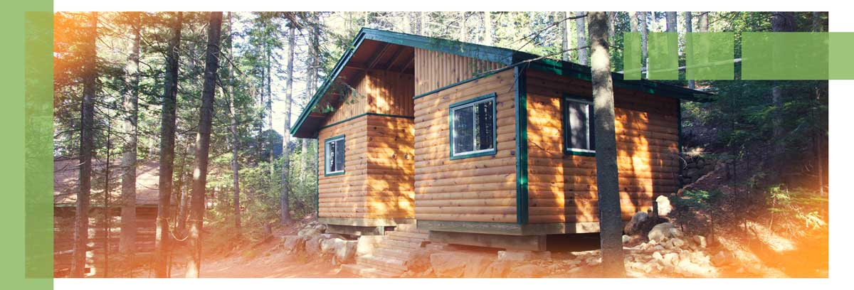 One of Ouareau's cabins: exterior photo