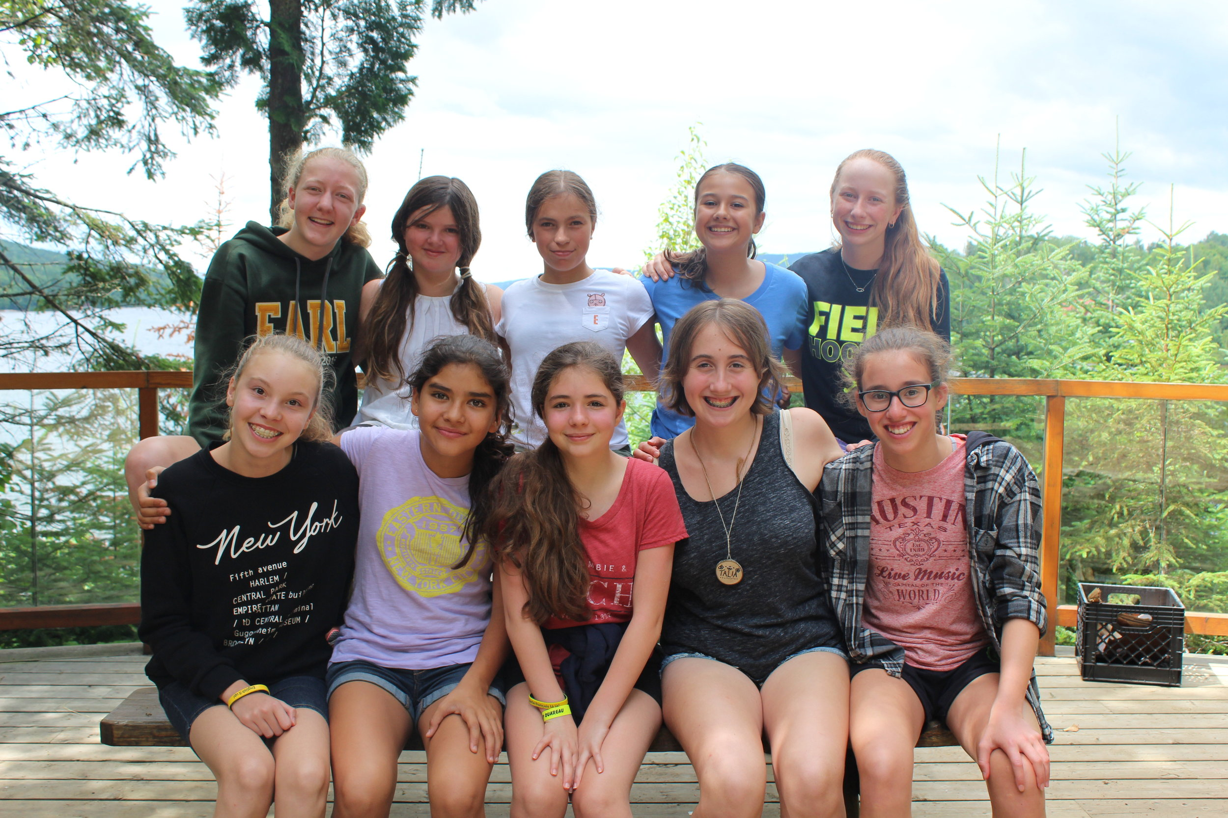 Katie, her co-counsellor and their campers in 2016.