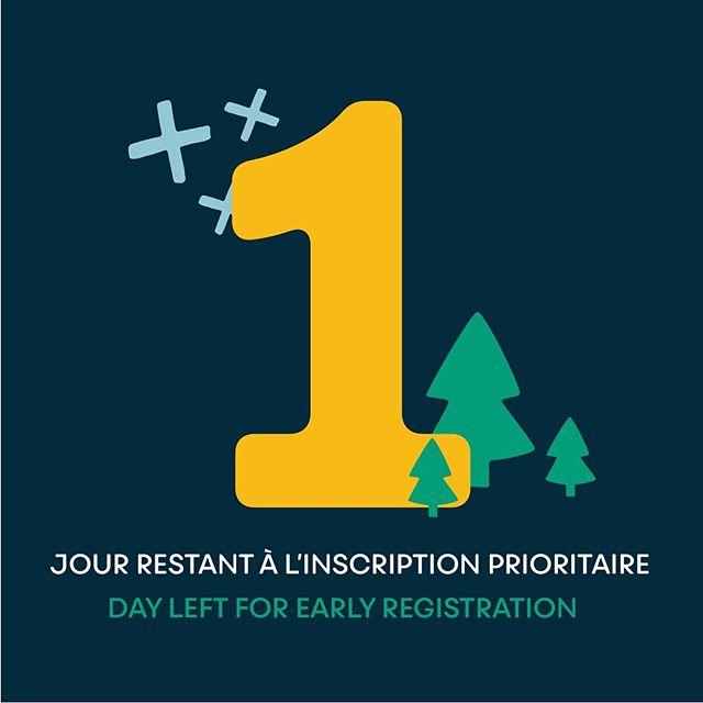 ✨Dernière journée pour l'inscription prioritaire! Inscrivez-vous au ouareau.com ✨Last day for priority registration! Register at ouareau.com ✨ . . . #campouareau #register #inscriptions