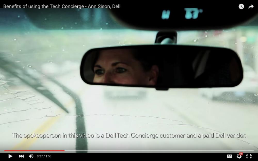 Dell —Dell Tech Concierge  video  spokesperson