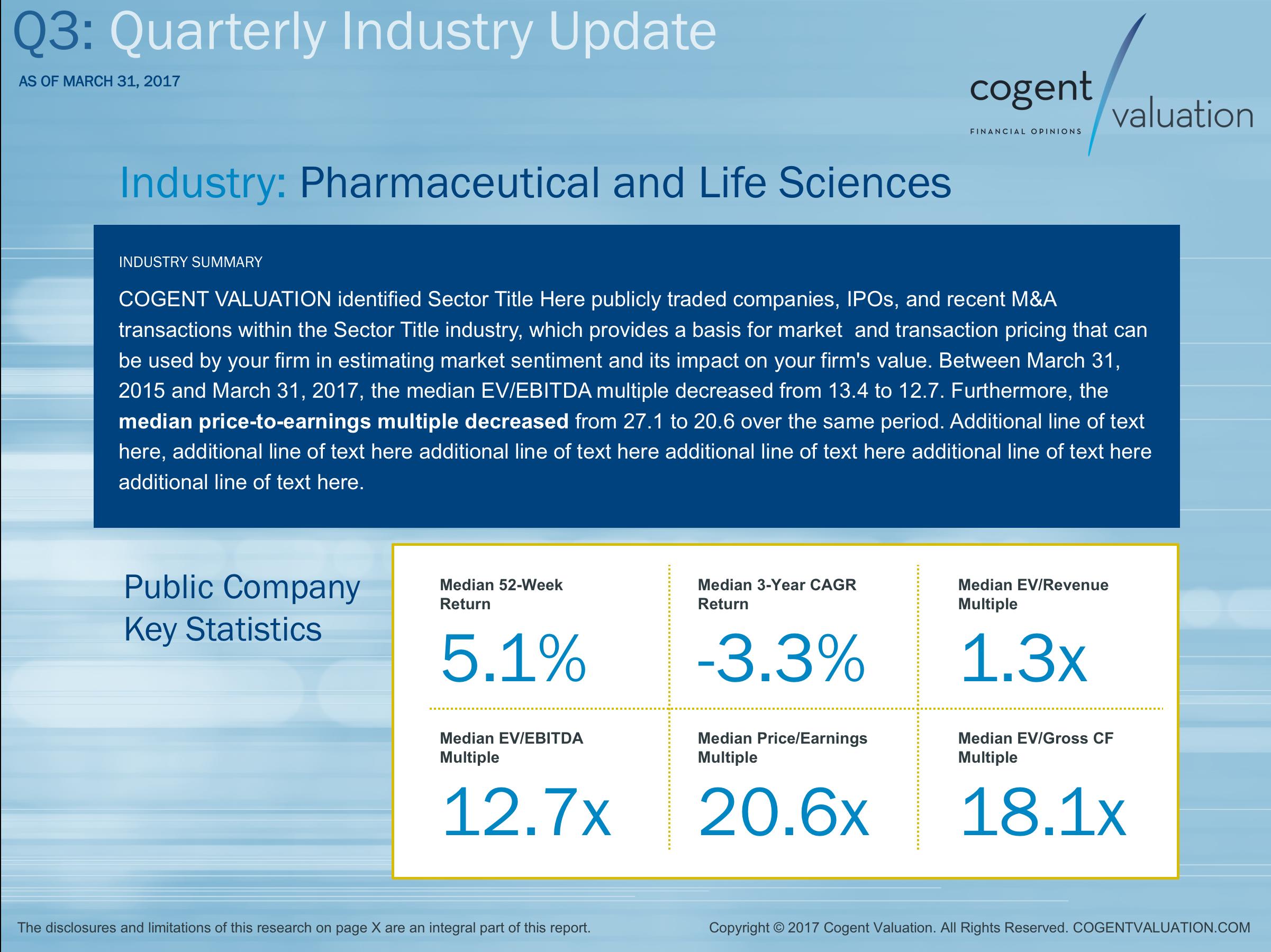 Quarterly Industry Update Presentation