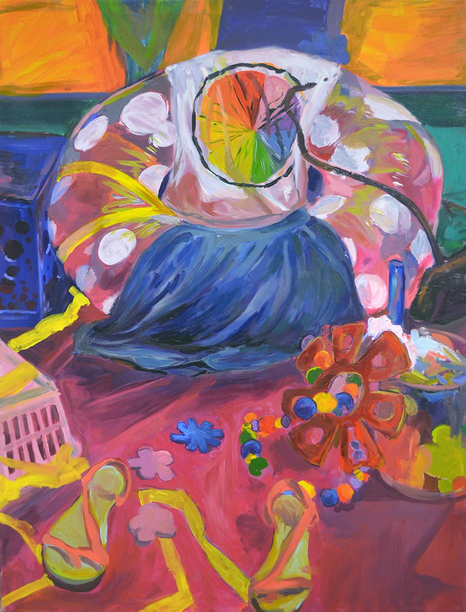 """High chroma study.  Fall 2013. 30"""" x 40""""  Oil on Canvas"""