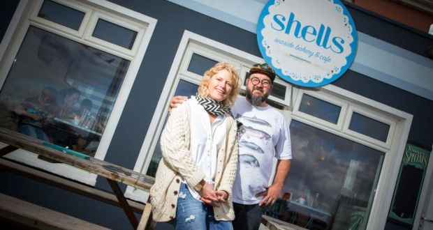 Owners Jane and Myles Lamberth of Shells Cafe, Strandhill