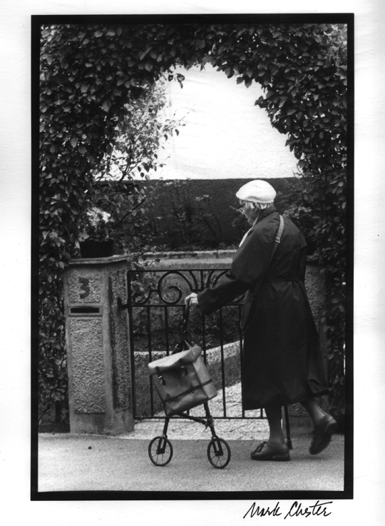 Woman with Wheeled Walker
