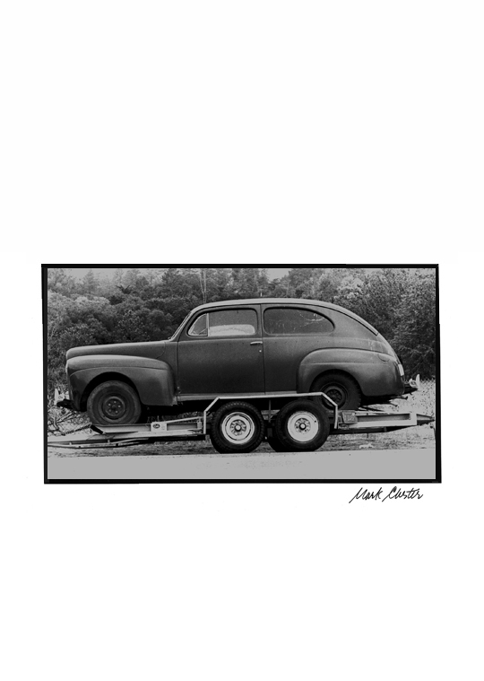 Jalopy on Tow Truck