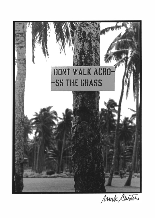 Don't Walk Acro--ss the Grass