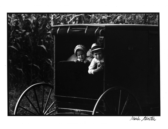 Mennonite Buggy and Children