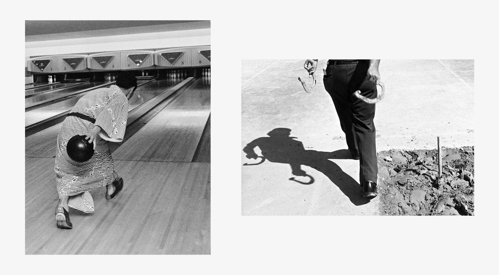 Bowler, Japan, 1978   Pitching Horseshoes, IA, 1974 38 x 21.5.jpg