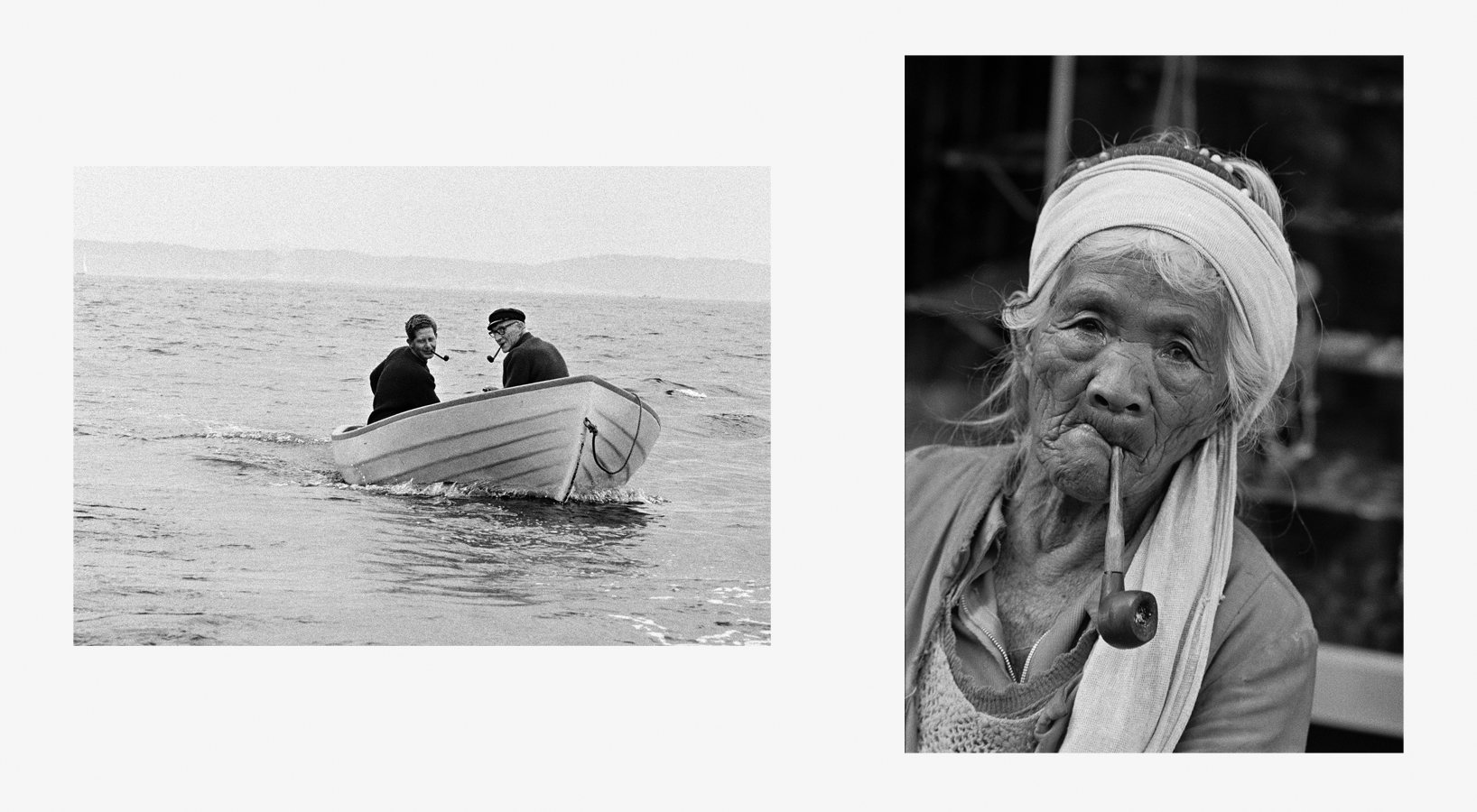 Men with Pipes, Sweden, 1972   Tribal Woman with Pipe, The Philippines, 1977 37 x 24.5.jpg