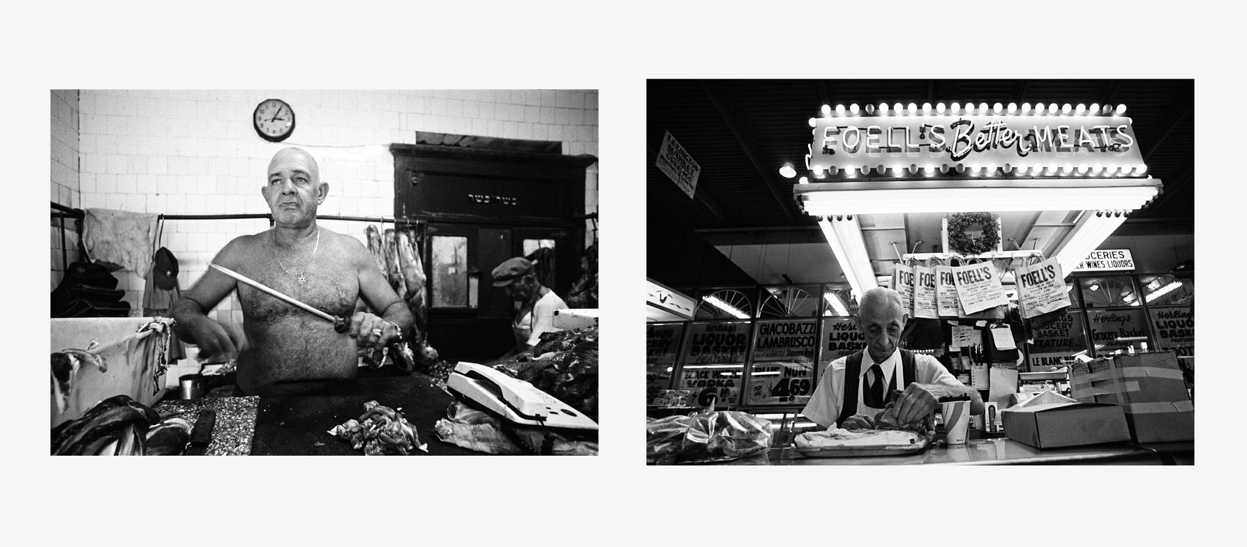 PP126-127_Kosher Butcher_Havana_Cuba_2003-Foell's_Better_Meats_Maryland_1981.jpg
