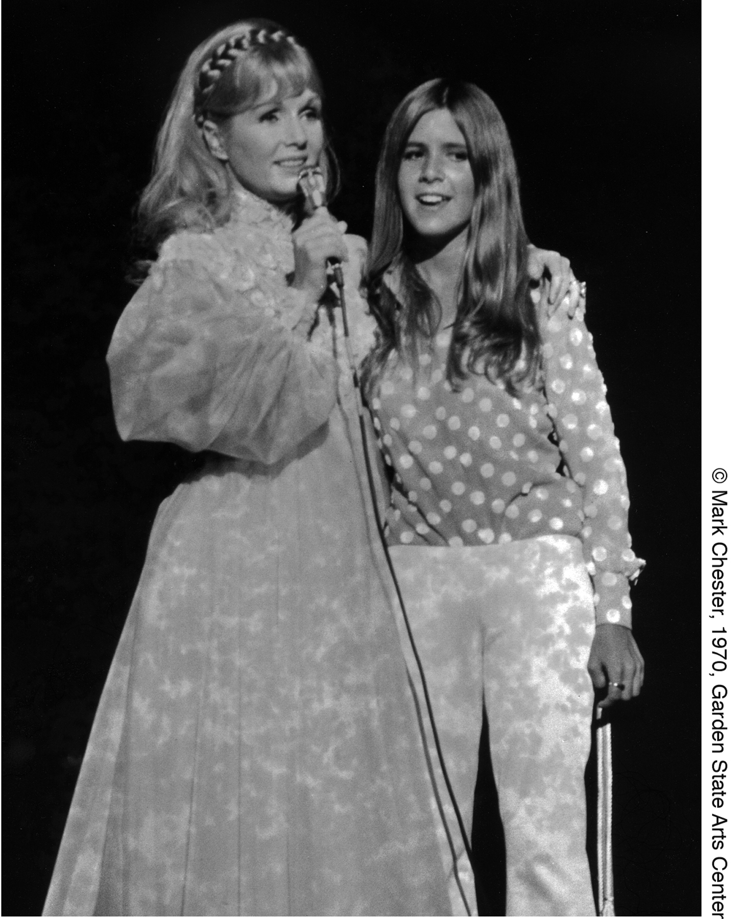 Debbie Reynolds and Carrie Fisher, 1970, Garden State Arts Center, NJ