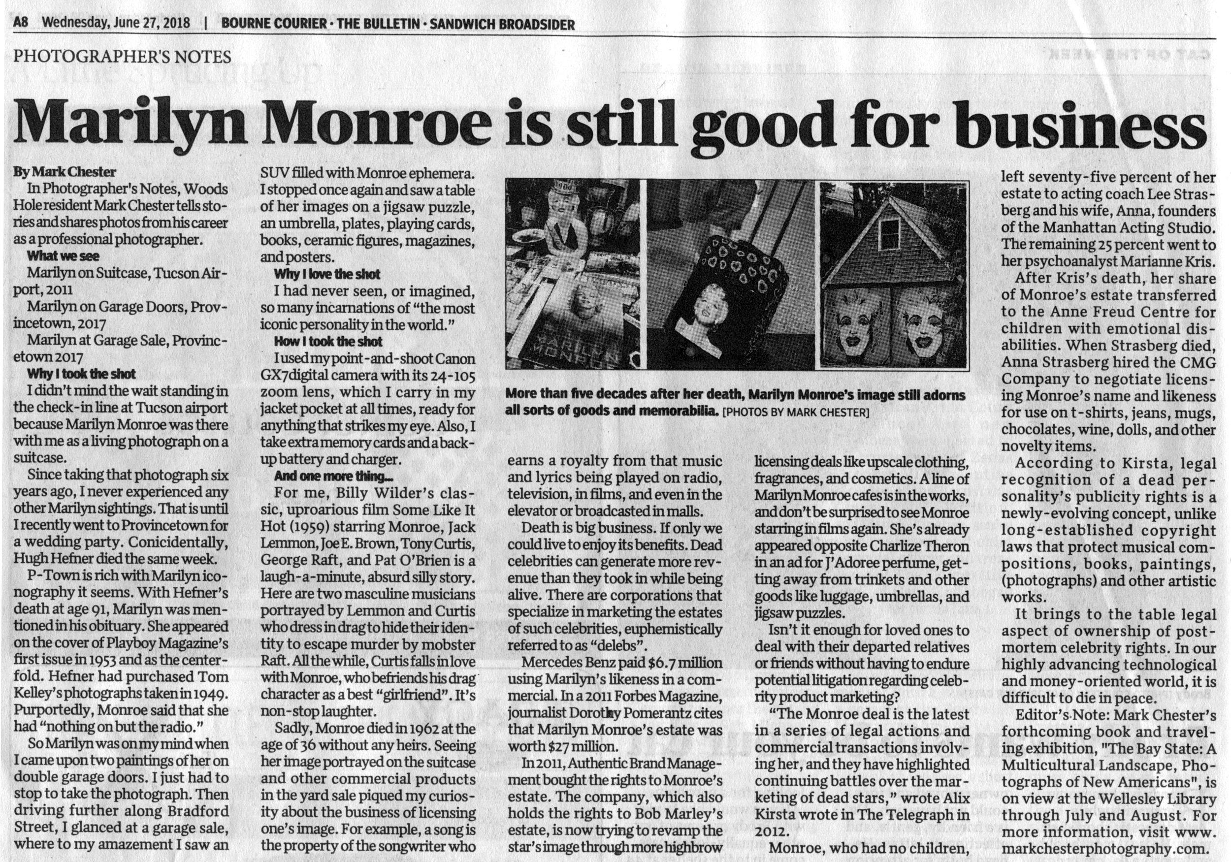Marilyn Monroe is still good for business.JPG