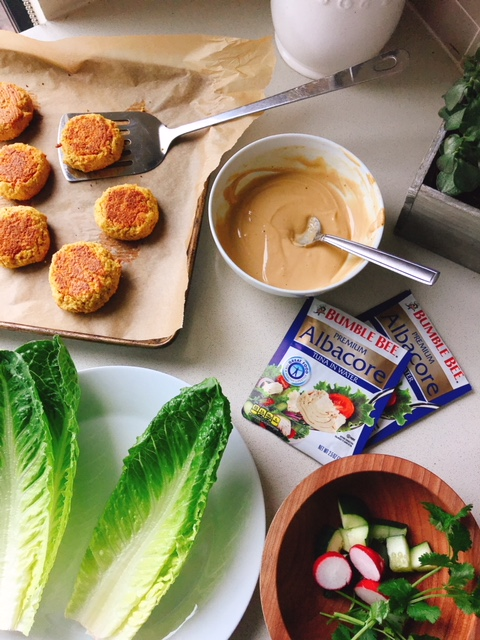 A simple main dish or side full of flavor, packed with protein that can be made in less than 30 minutes paired with a savory creamy dipping sauce!