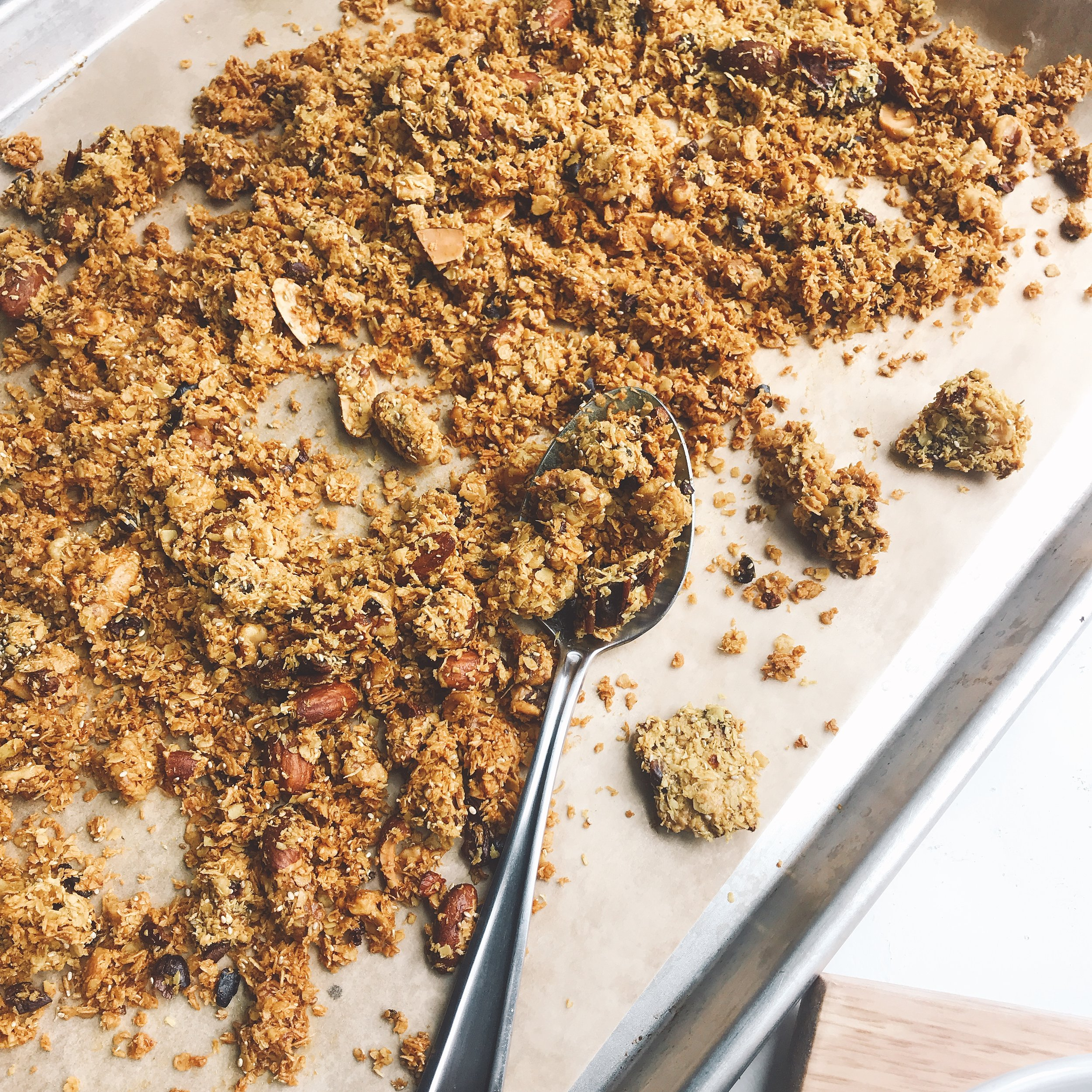 A sweet and savory granola mix that is low in sugar, crunchy, a simply one you can feel good about.