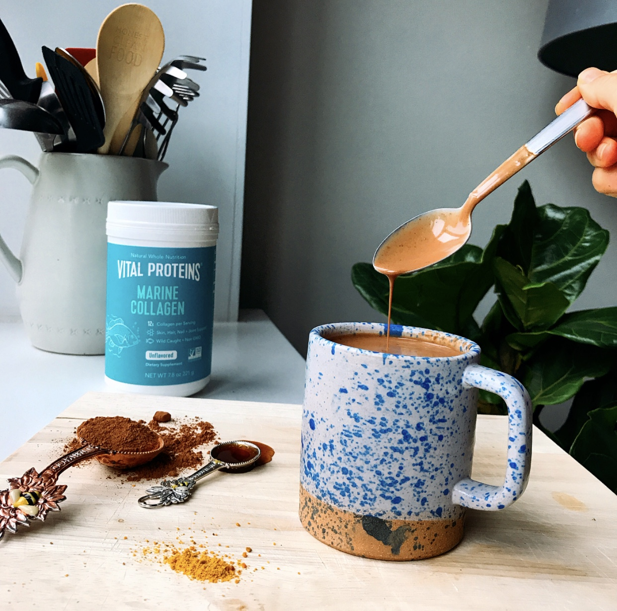 A creamy, decadent gut healing hot chocolate that you will want to make all winter long to keep you warm and cozy.