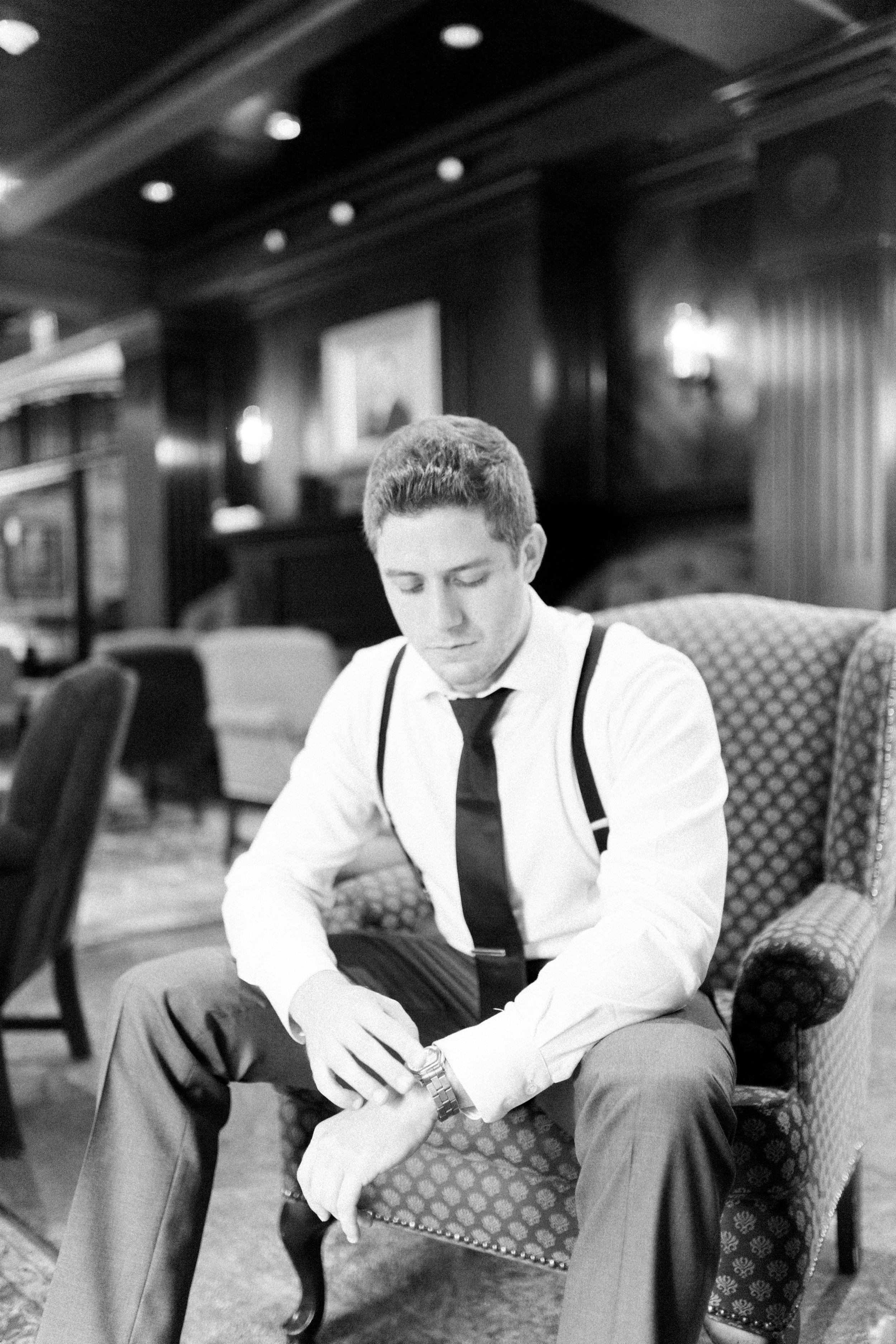 Toronto Fine Art Photographer - Old Mill Wedding - Groom Getting Ready-34.jpg