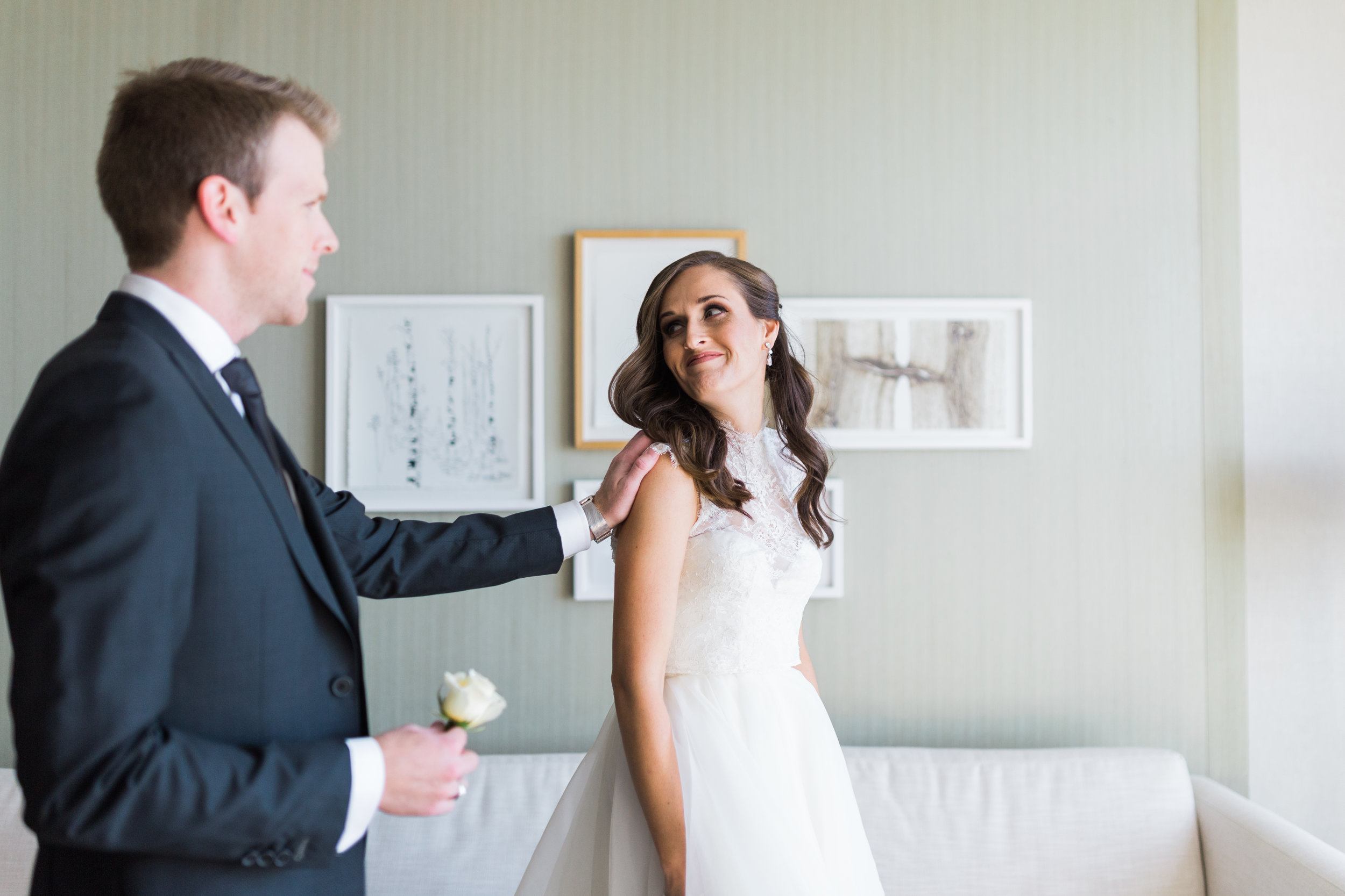 Toronto Fine Art Photographer - Four Seasons Yorkville Wedding - First Look-2.jpg
