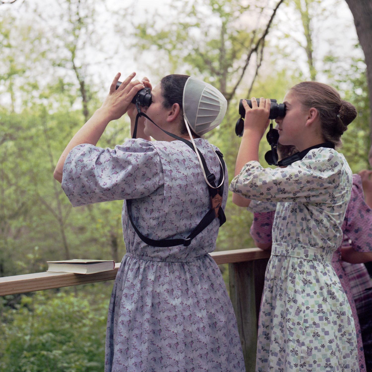 Young birders. Magee Marsh, OH 6x6 Color film
