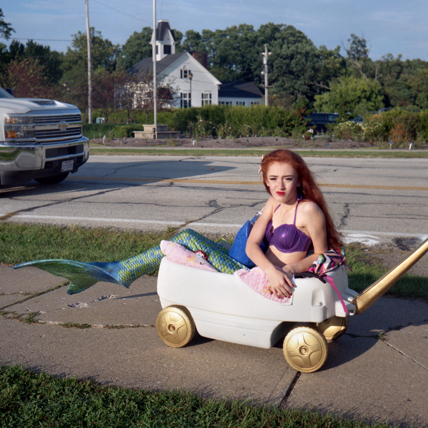 Reluctant Mermaid Homecoming parade 6x6 Color film