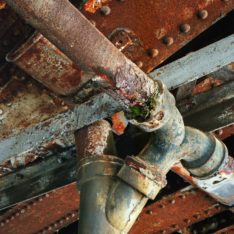 Infrastructure Salamanca, NY 6x6 color negative film
