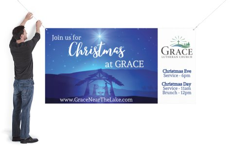 Grace Lutheran Church    Generic Christmas 4x8' Banner