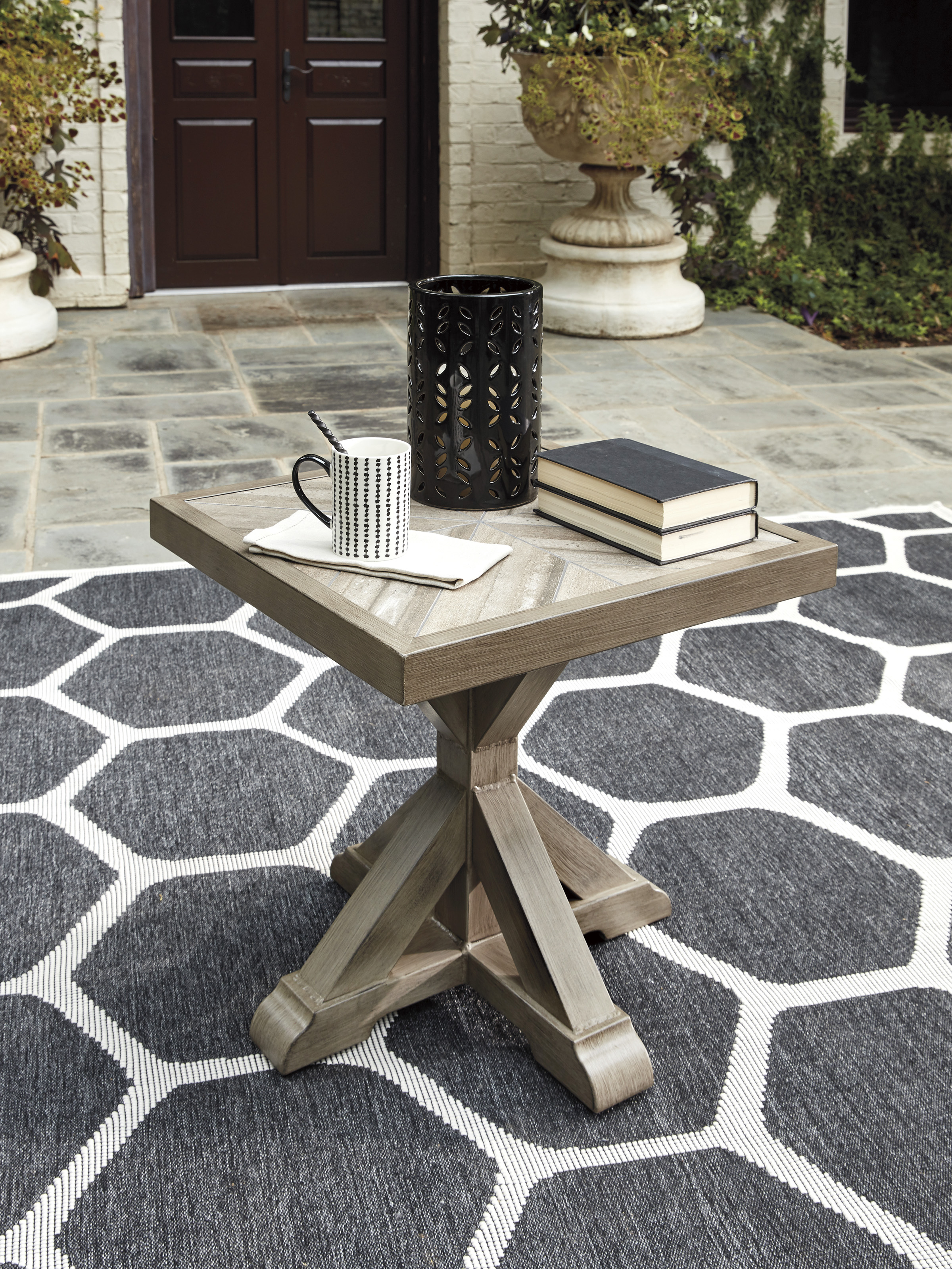 Beachcroft End Table with Porcelain Top
