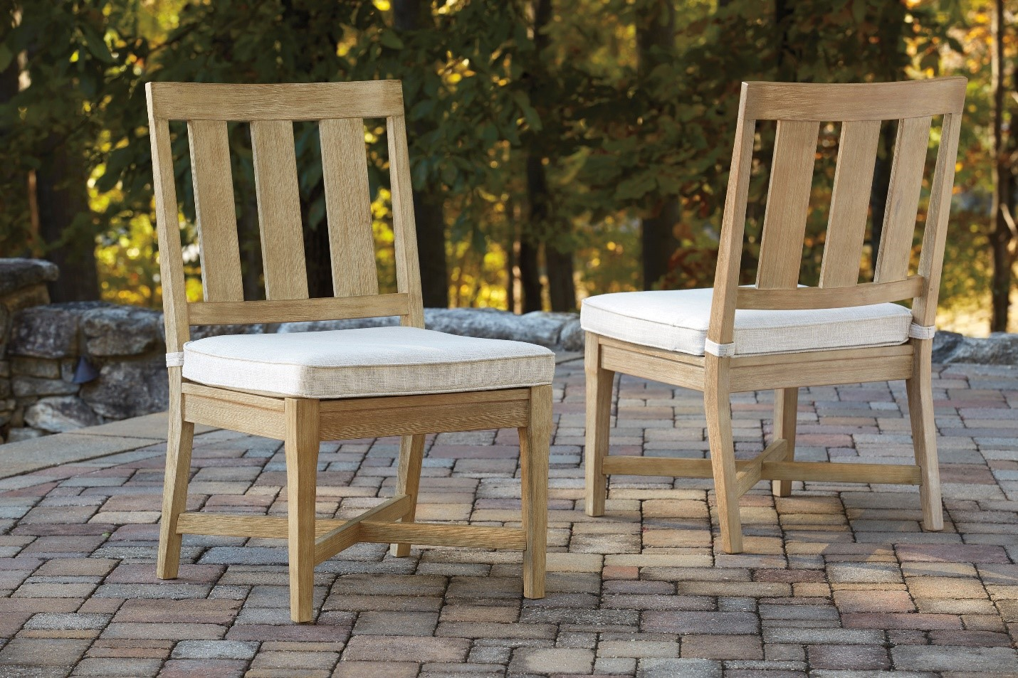 Clare View Armless Chairs with Pads