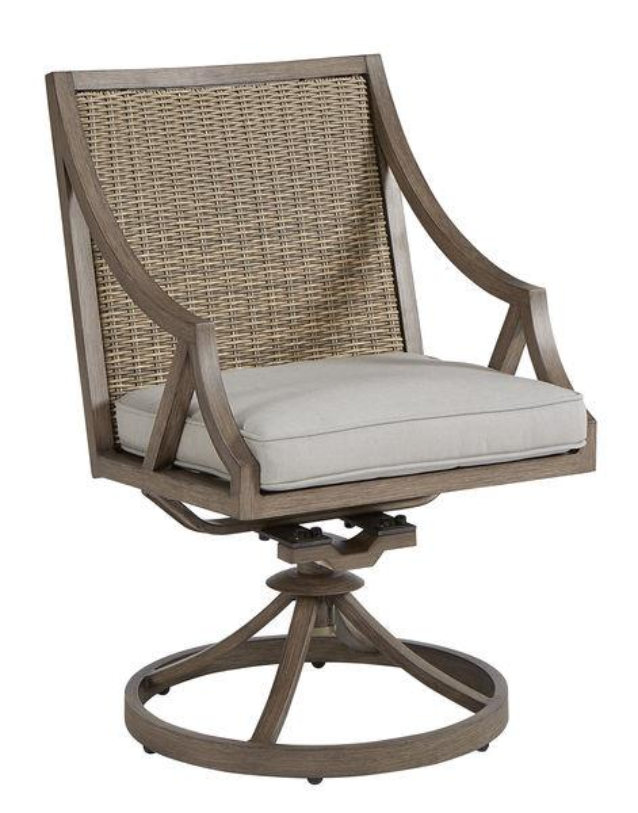 ART SUMMER CREEK SWIVEL DINING CHAIR WITH PAD