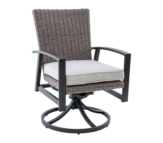 Bradley Woven Swivel Club Dining Chair