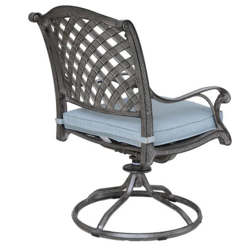Macan Cast Swivel Rocker Dining Chair