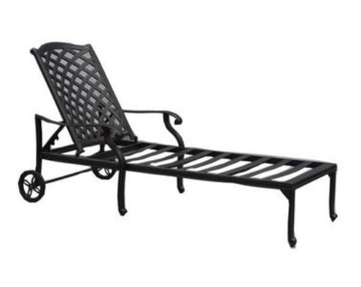 CASTLE ROCK  CAST CHAISE LOUNGE, FRAME