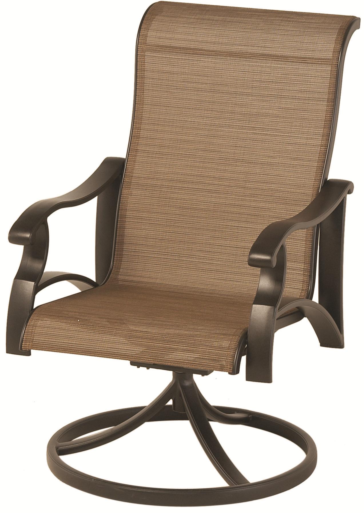 Somerset Swivel Rocker Sling Dining Chair