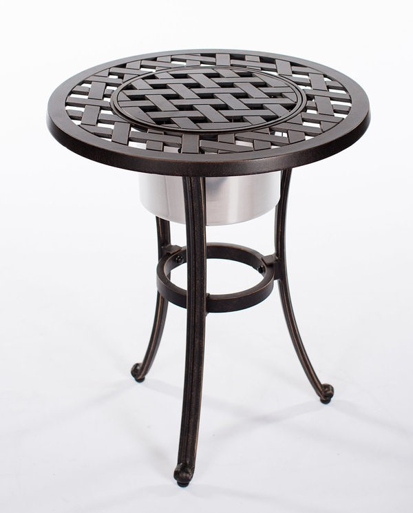 "Castle Rock Cast Ice Bucket Table 21"" Round"