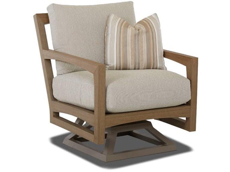 Delray Synthetic Teak Swivel Rocker Chair