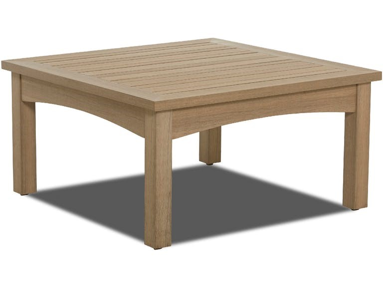 Delray Synthetic Teak Cocktail Table