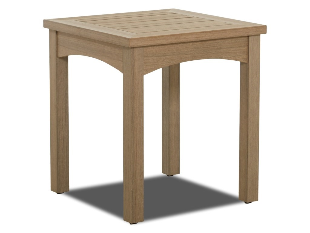 Delray Synthetic Teak Accent Table