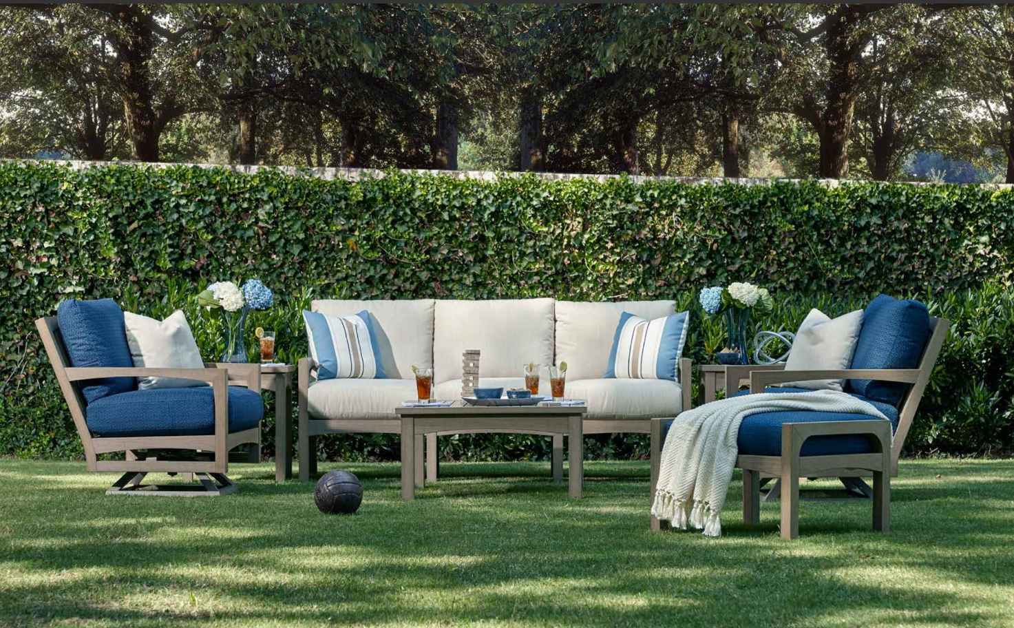 Delray Synthetic Teak Deep Seating Group